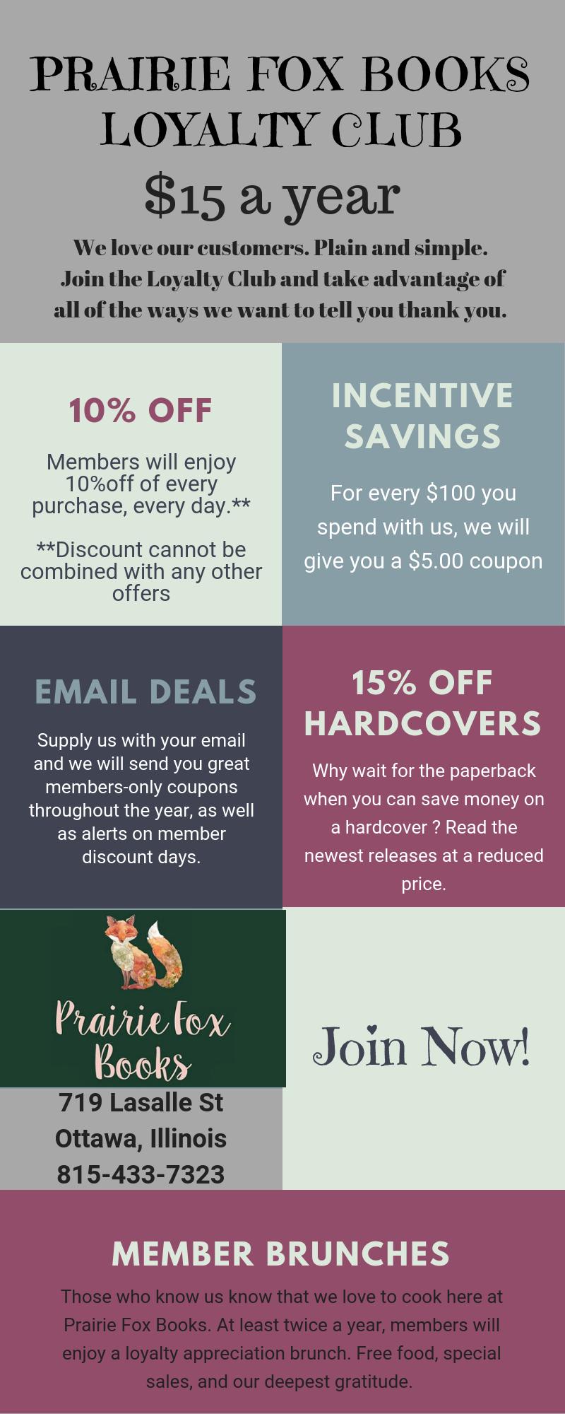 prairie fox booksloyalty club